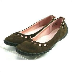 Privo By Clarks Women's Comfort Flats Size 8 Brown